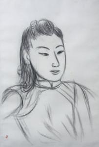 梅原龍三郎 姑娘 北京時代